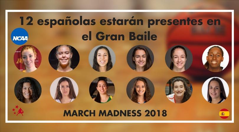 12 españolas estarán presentes en el Gran Baile de la Locura de Marzo y otras 8 en el NIT