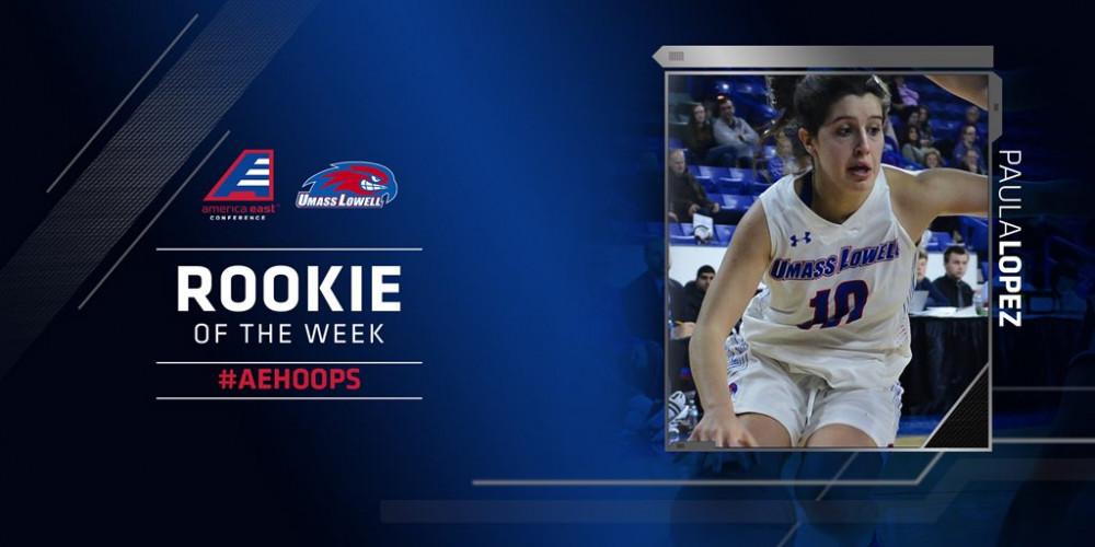Paula López nombrada Rookie de la Semana en la America East Conference