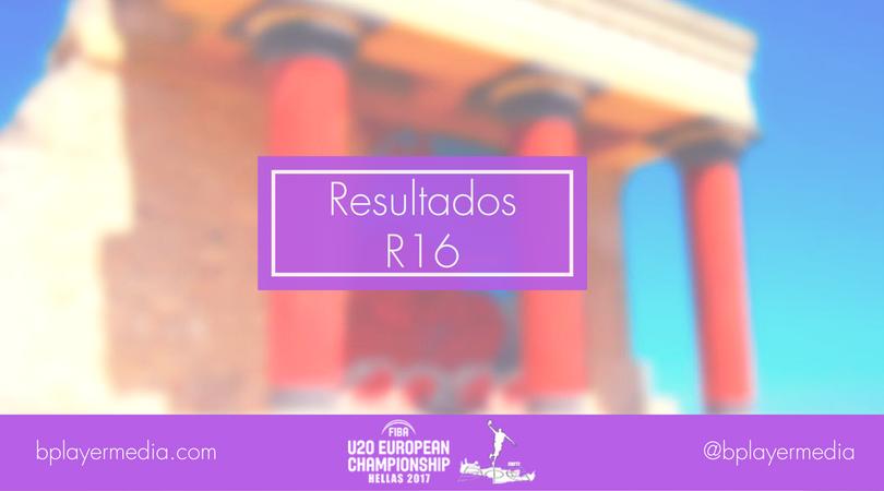 Resultados Round of 16: #FIBAU20Europe