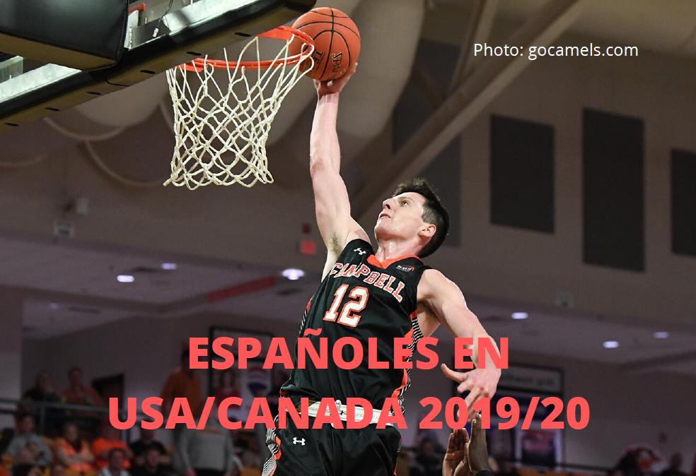 Españoles en baloncesto universitario en USA/Canadá 2019/20