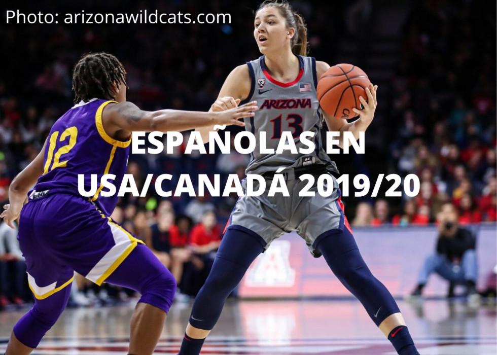 Españolas en baloncesto universitario en USA/Canadá 2019/20