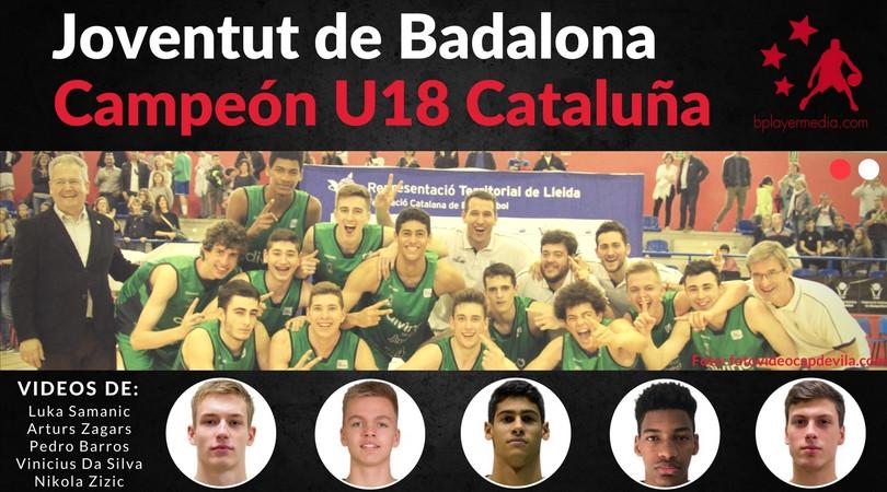Jugadores de la final U18 Cataluña 2018