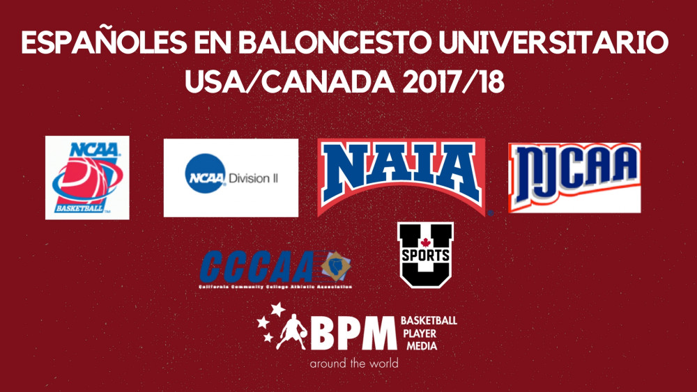 Españoles en baloncesto universitario USA/Canadá 2017/18