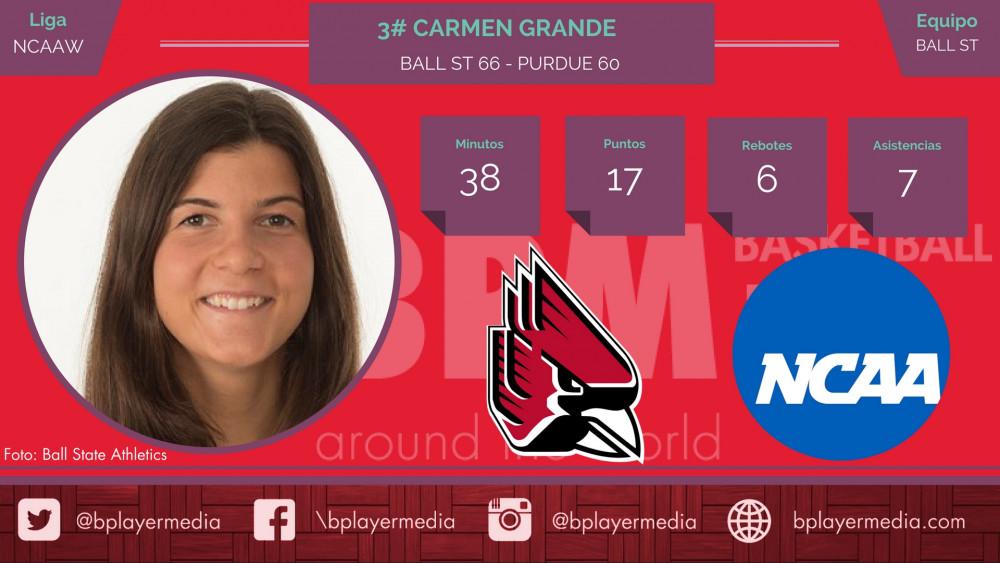 Carmen Grande firma el mejor inicio de la historia de Ball State (7-0)